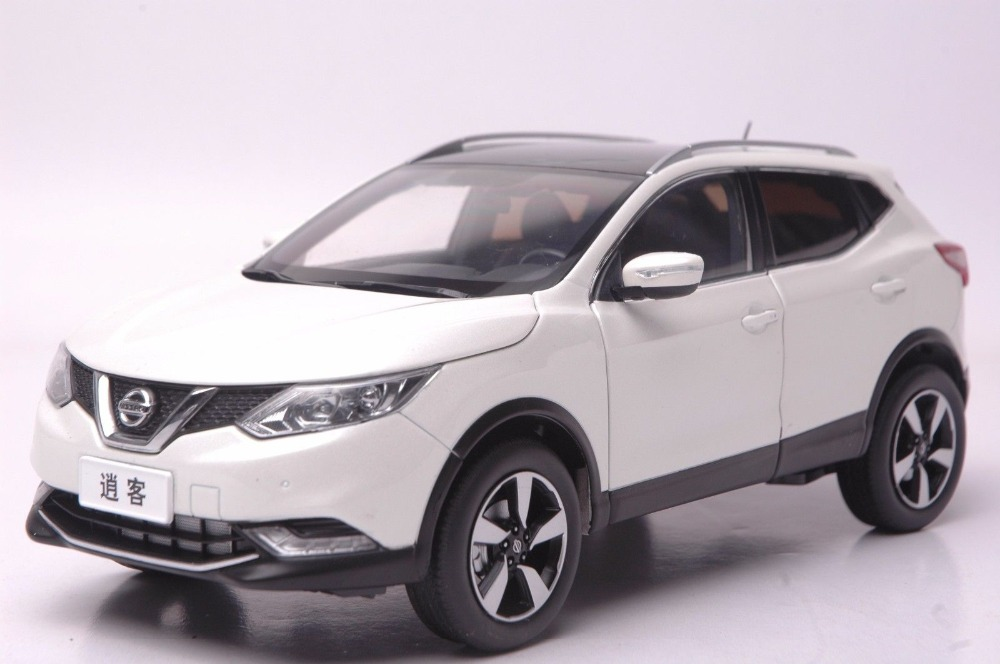 1:18 Diecast Model for Nissan Qashqai 2015 White SUV Alloy Toy Car Collection Gifts nikko машина nissan skyline gtr r34 street warriors 1 10 901584 в перми