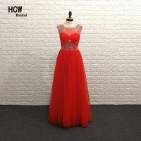 Czerwony Długi Formalna Prom Dresses 2018 Exquisite Linii Tulle piętro Długość Zroszony Arabski Strona Suknie Plus Size Kobiety Prom sukienka