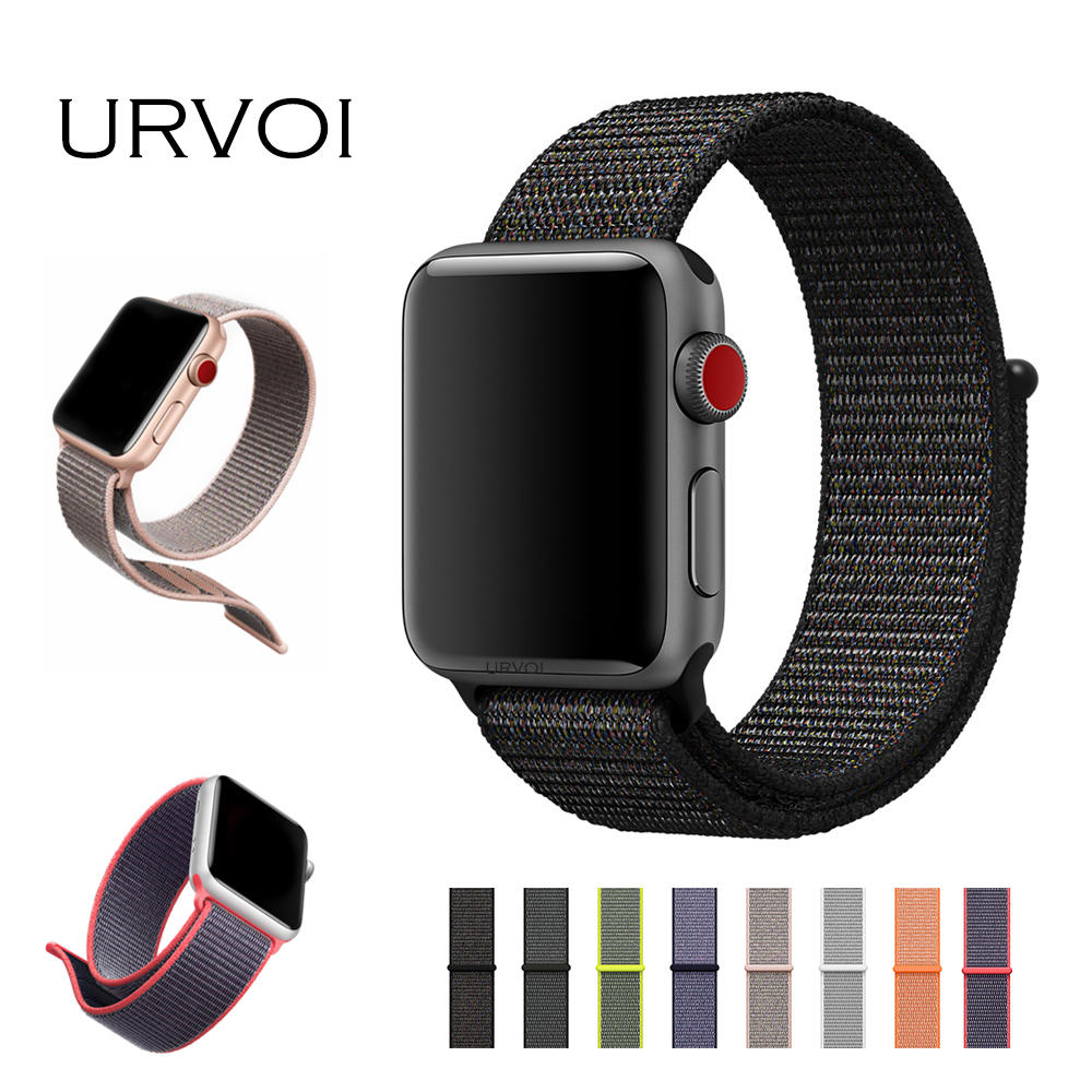 URVOI Sport Loop For Apple Watch Series 3 2 1 Band For Iwatch Double Layer Woven