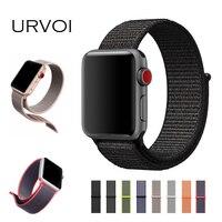 URVOI Thể Thao vòng lặp cho apple xem series 3 2 1 ban nhạc cho iwatch double-layer dệt nylon breathabe dây đeo móc-và-loop fastener