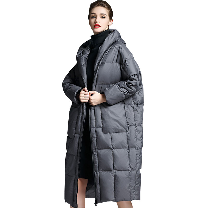 2015e0ca052 Detail Feedback Questions about 90 Percent White Duck Down Plus size  Thicker Winter Jacket Women 2018 New Loose Parkas Cocoon type Long Woman  Coat Ukraine ...