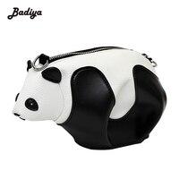 Patchwork Panda Dos Desenhos Animados Das Mulheres Sacos Crossbody PU Senhoras De Couro Mensageiro Saco Grande Capacidade Bolsa Da Forma Para A Mulher