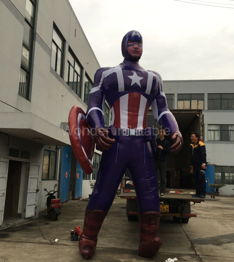 Custom the Avengers superman giant inflatable inflatable captain america for advertising