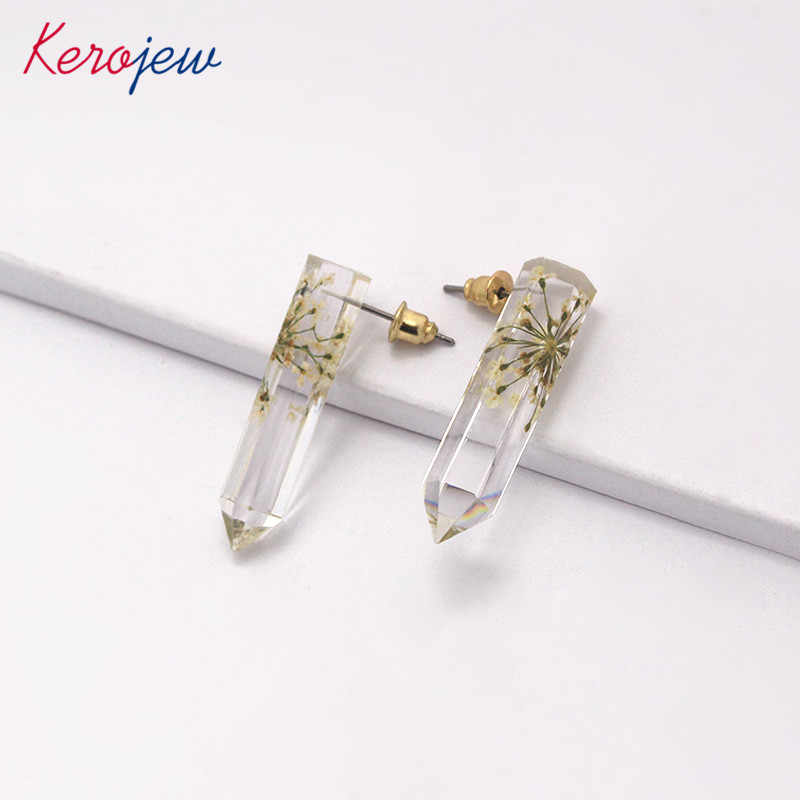 Korean Stylish Stud Earrings Clear Resin Simple Fashion Aretes De Mujer Elegant OL Lady Vintage Big Earring For Women Wholesale