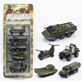 5PCS 1:64 Diecasts Alloy Model Car Army City Boy Toy Car Hot Wheels Cars Machines Kids Toys For Children Military Chariot Gift