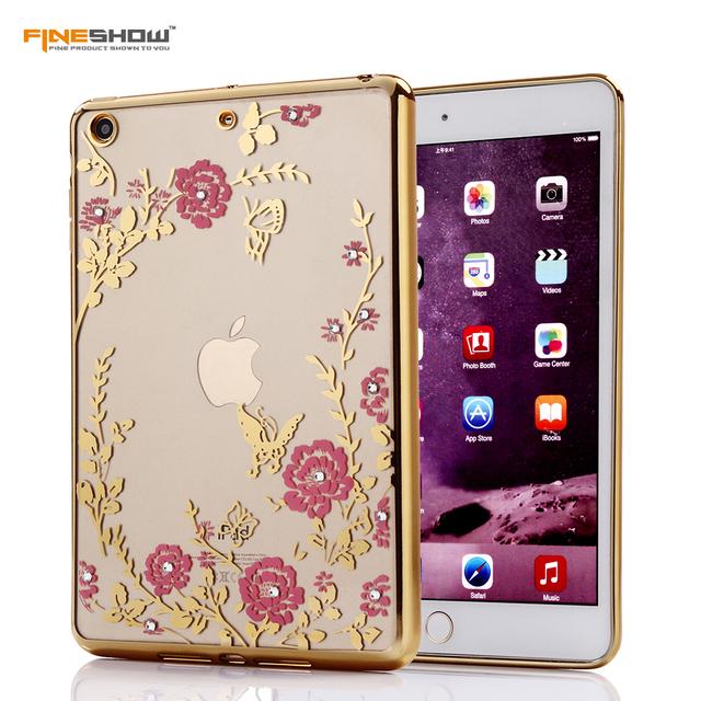 For MINI2 MINI3 Diamond Secret Garden Flower for iPad MINI23 Electroplating Frame