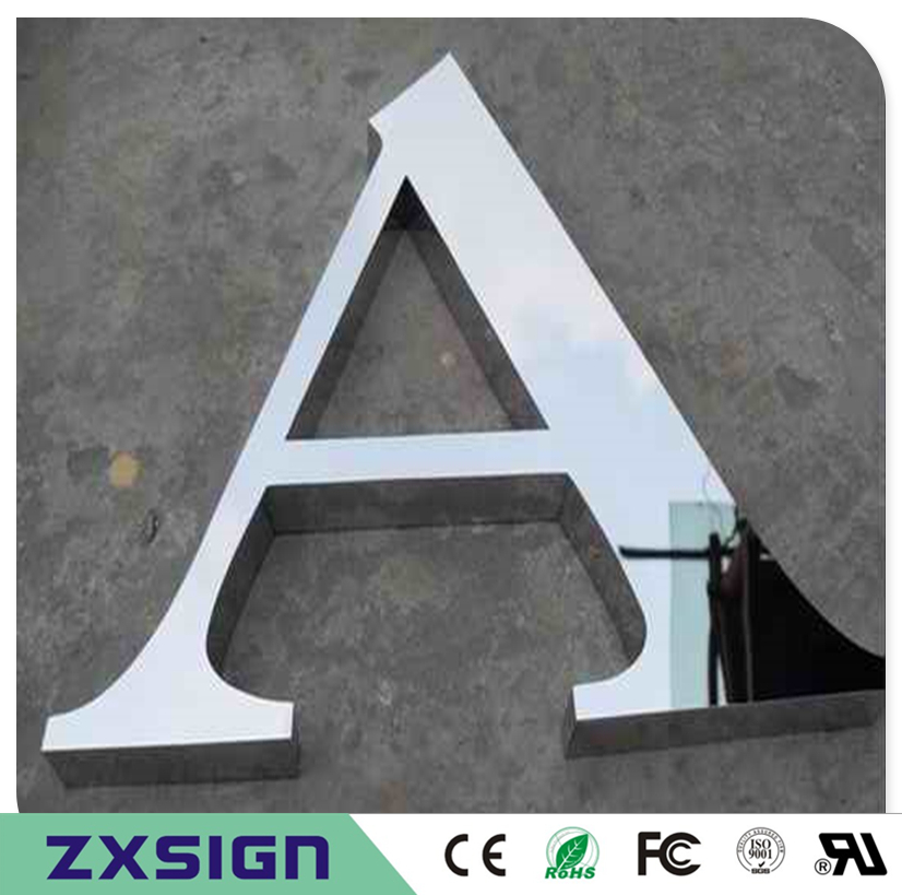 Factoy Outlet Outdoor Polished Stainless Steel Letters, Mirror Stainless Steel Words