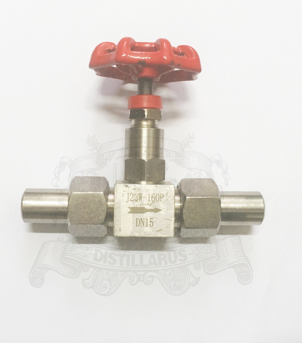 1 2 DN15 needle valve Stainless steel 304 Red Connection diameter 19mm