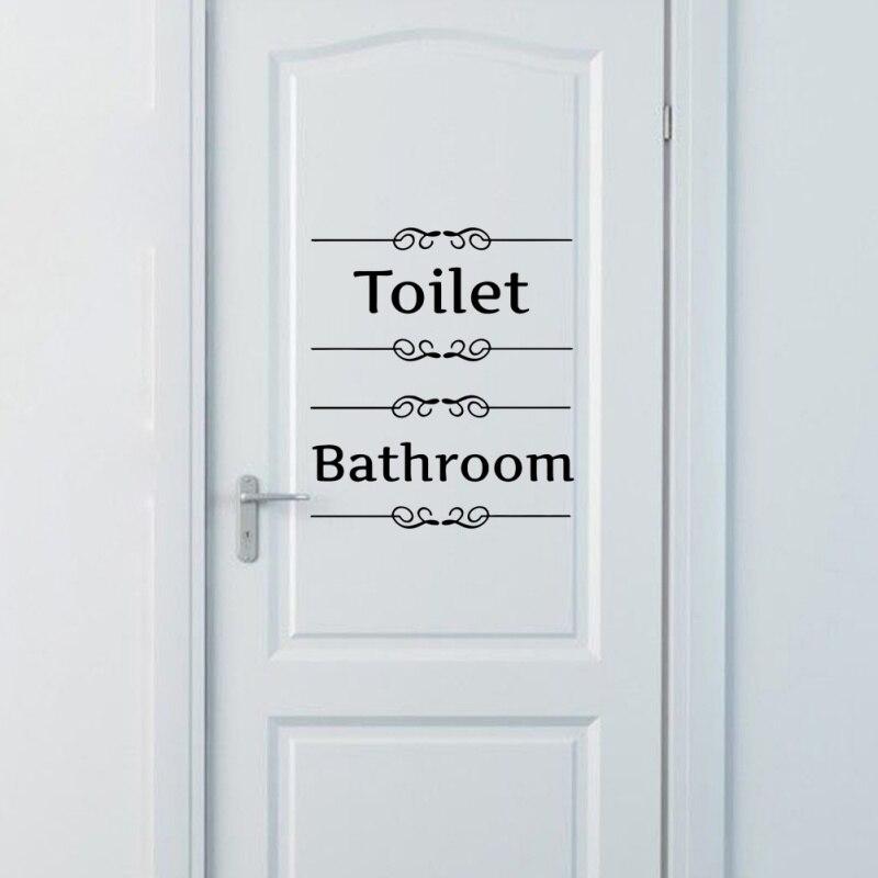 Письмо знак Наклейки на стену съемный декор стен наклейка двери Наклейки Санузел Ванная комната Туалет wc Наклейки Домашний Декор