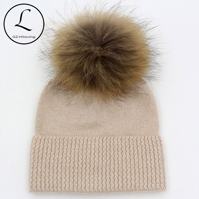 5 Years-15 Years Wool Children Beanies Crochet Winter Hat For Girls Boys Kids Big Girls Winter Hats Knitted Wool With Fur Pompom the new children s cubs hat qiu dong with cartoon animals knitting wool cap and pile