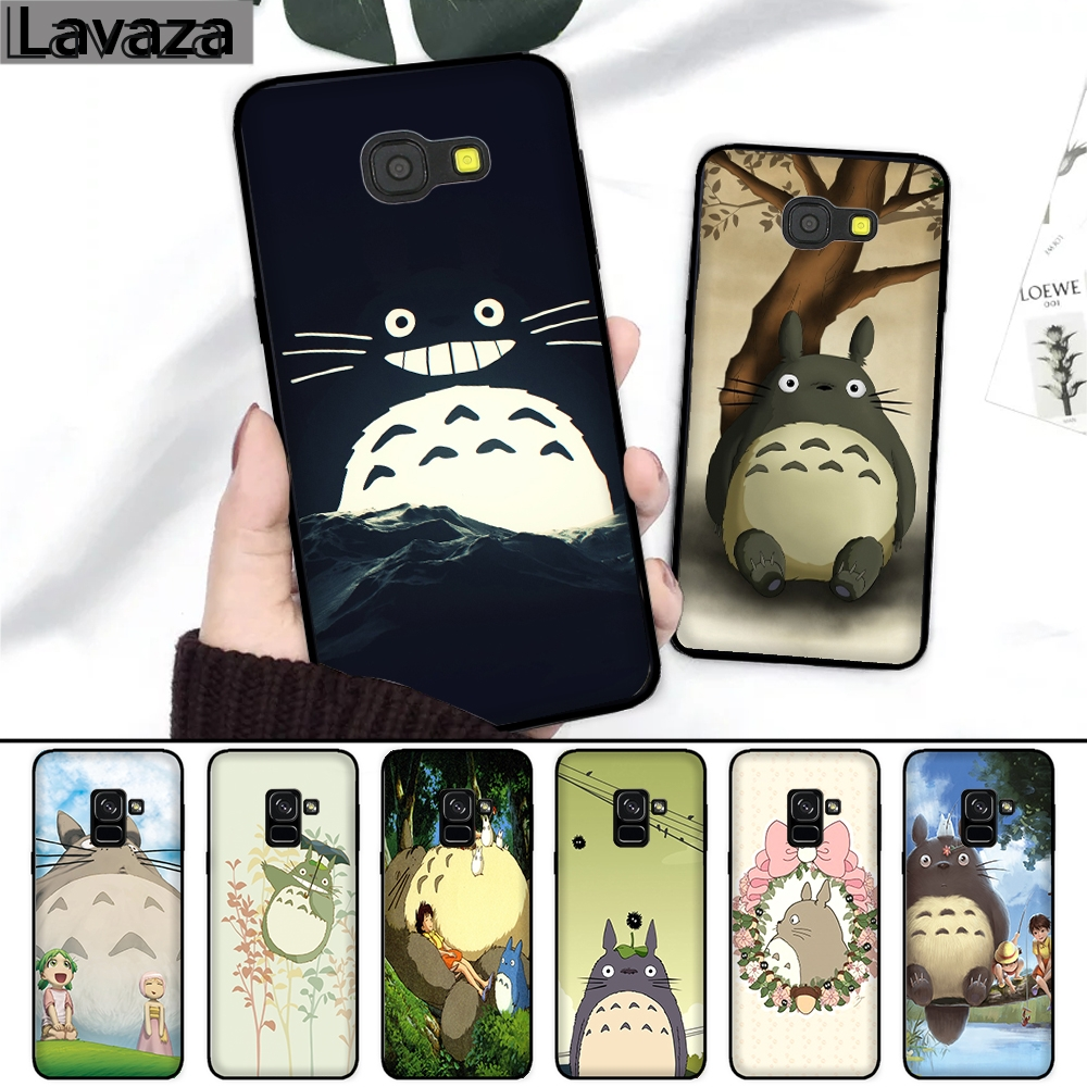 Lavaza 217FF My Neighbor Totoro Silicone Case for Samsung A3 A5 2016 2017 A6 Plus A7 A8 A9 J6 2018 in Fitted Cases from Cellphones Telecommunications