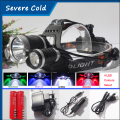 9000Lm CREE XML T6+Red Green UV White LED Headlight Headlamp Head Lamp Head Light Torch +2x4200mAh 18650 Battery+EU/US Charger