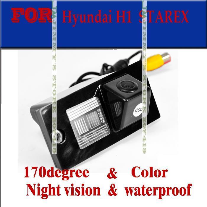 imágenes para Visión nocturna opinión posterior del coche impermeable buckup color de la cámara de marcha atrás para hyundai h1 grand starex