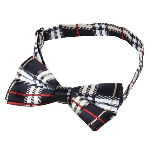 HOT SALE!M black plaid bow tie
