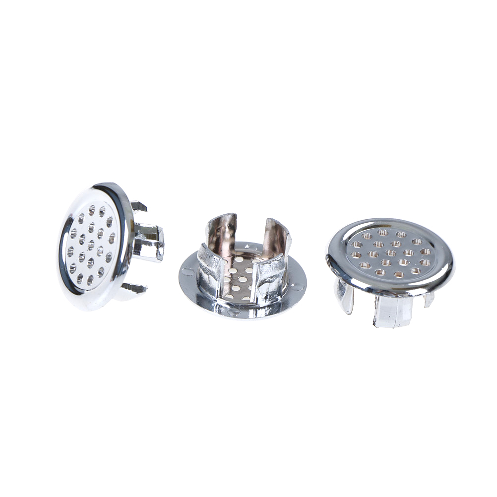 3pcs/lot Bathroom Accessories Overflow Ring Basin Sink Round Overflow Cover Ring Insert Replacement Tidy Chrome Trim