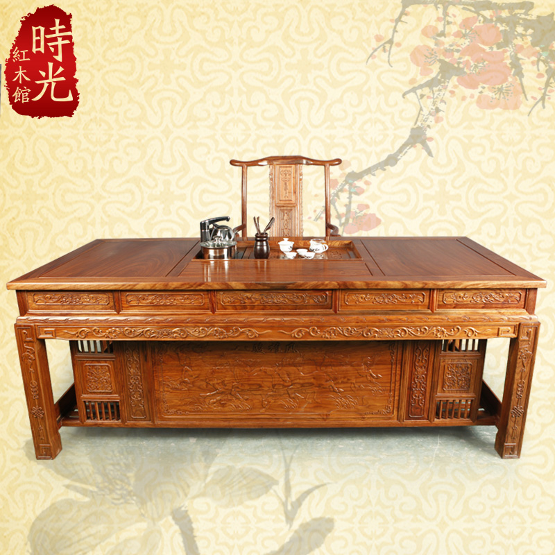 African Rosewood Mahogany Furniture Tea Tables And Chairs