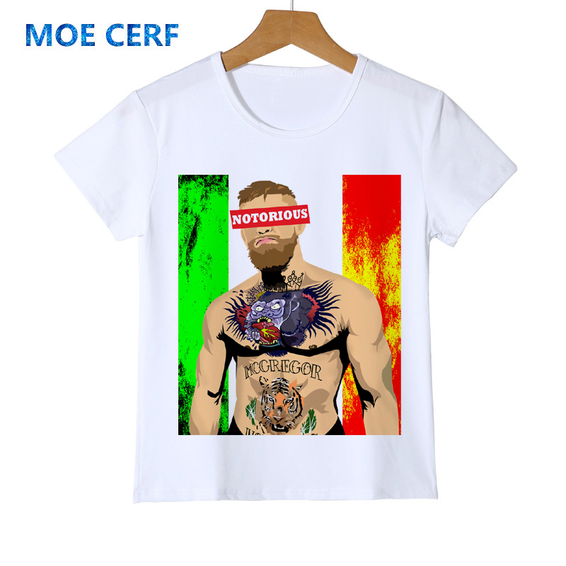 2019 New Cool Star Conor Mcgregor 3d T-shirts Kid Funny Boy T Shirts Tops Hip Hop Baby Child Clothing Gril T-shirt Y18-2