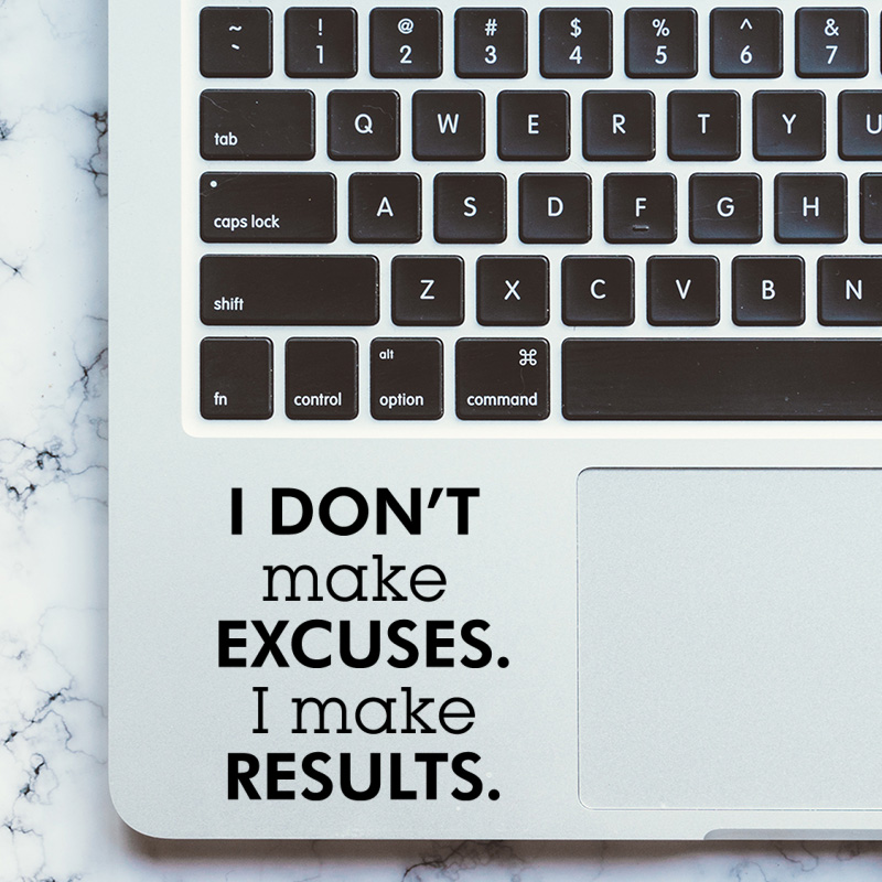 Executive Force Inspired Quote Laptop Sticker Trackpad Decal for MacBook Pro Air Retina 11 <font><b>12</b></font> 13 15 inch Mac Book Touchpad Skin image