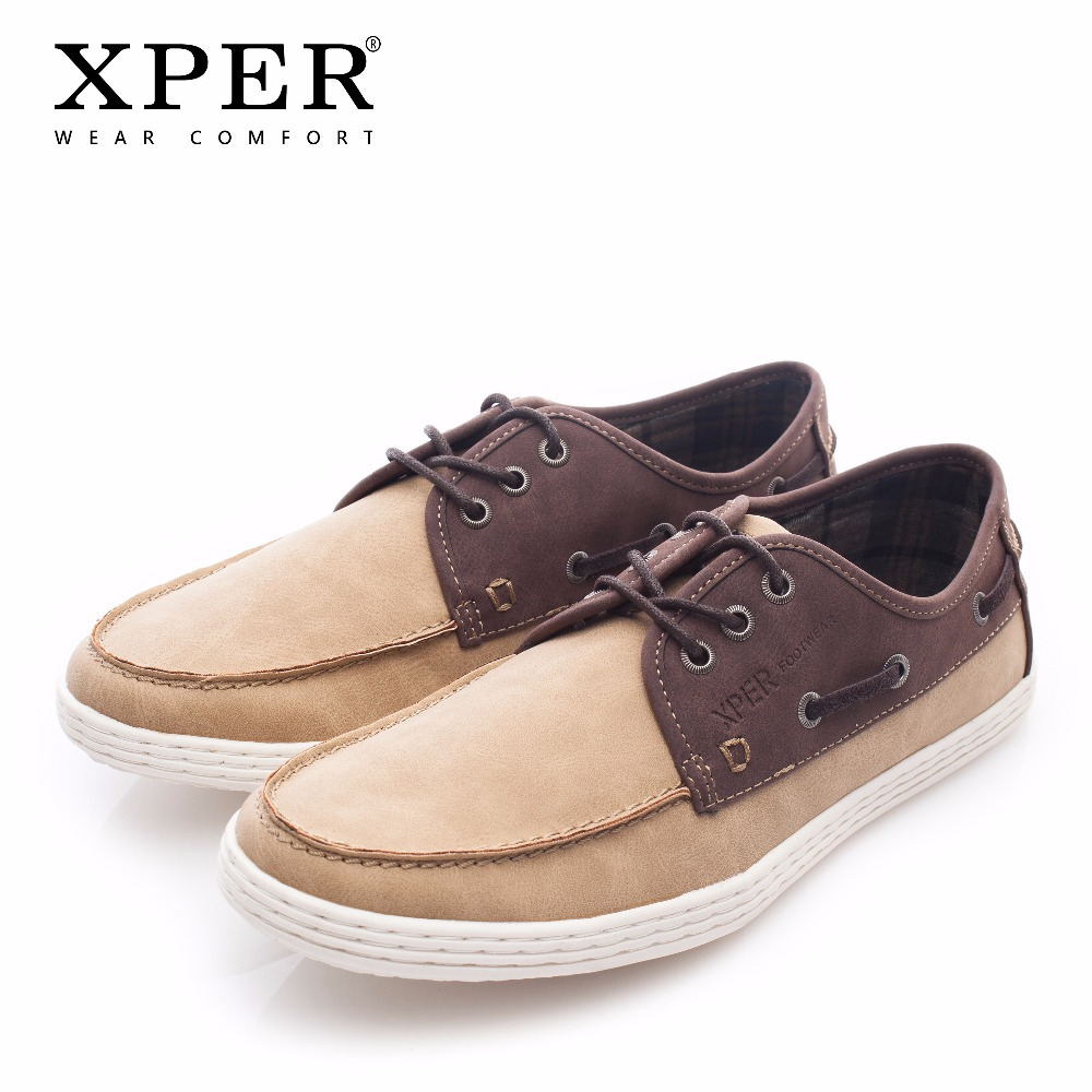 2018 XPER Brand Fashion Men Leather Casual Shoes Male Wear Comfortable Walking Shoes Men Spring Autumn Footwear Soft #XHY05004 все цены