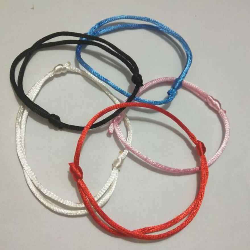5pcs/lot 2mm KABBALAH HAND Made Multicolor String Bracelet Jewelry Kabala Good Luck Bracelet Protection-Protection of love Q64