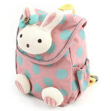 Animal design children boys girls 3D cute rabbit school bag anti-lost backpack kids kindergarten