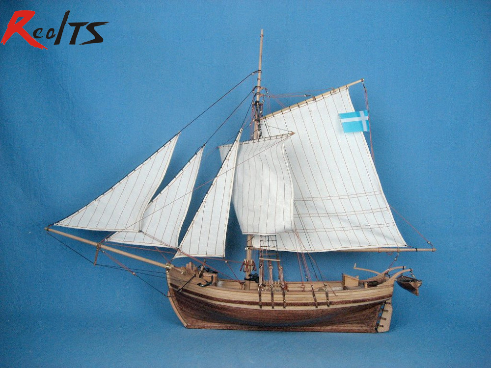 RealTS 1/50 sweden yacht wooden boat classic sailing boat model kit realts scale 1 80 in 1934 america s cup sailing competition endeavour sail boat wooden model kit