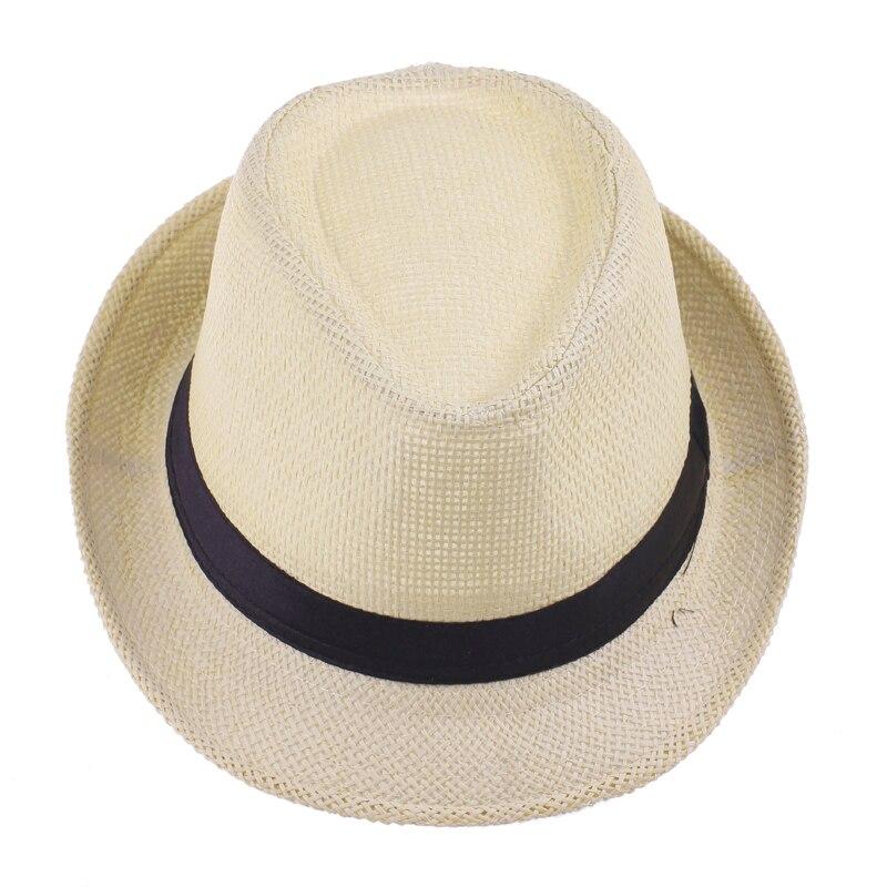 8ba5759245057 Retro Men Summer Fedora Hat Trilby Gangster Cap Summer Gentleman Beach Sun  Straw Panama Hat Sunhat 12