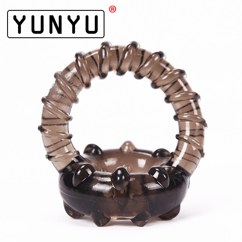 1PC Dual Cock Ring Soft Silicone Time Delay Erection Cock Rings For Men Adult Penis Rings Thread Sex Toy Ring Penis