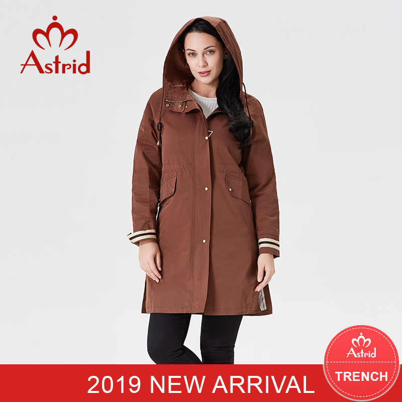 2019 Girls Trench Coat Spring Style Girls Windbreaker Informal Jacket Hooded Lengthy Sleeve Slim Coat Ukraine Astrid New Type B07