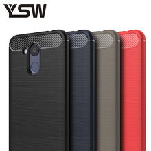 Здесь можно купить   YSW For Huawei Honor 6C Pro Case Carbon Fiber Soft TPU Brushed Anti-knock Back Cover Phones Case For Huawei Honor V9 Play Cover Mobile Phone Accessories & Parts