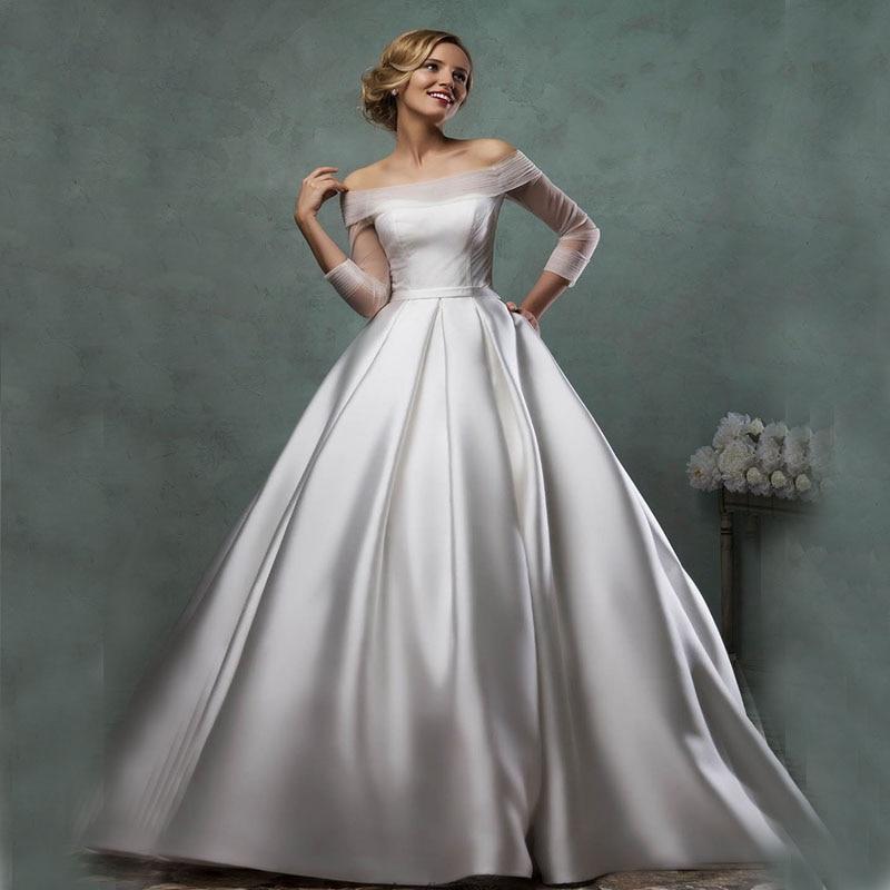 Real Simple Weddings 2017: Cheap Silver Boho Wedding Dresses Amelia Sposa 2017 New