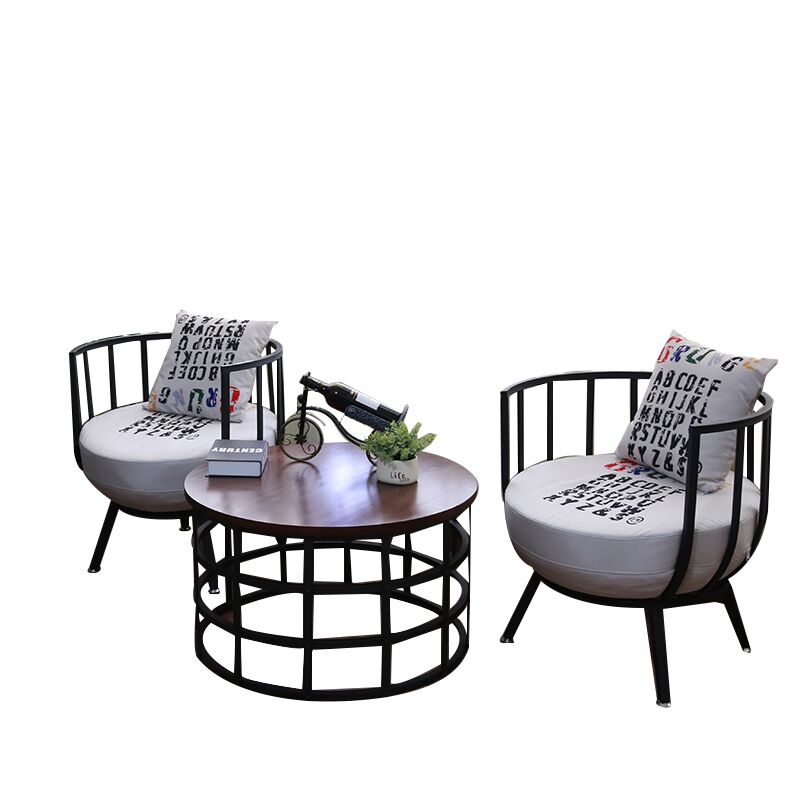 Office Reception Tea Shop Dessert Shop Cafe Table And Chair Combination Simple Leisure Nordic Single Card Seat Sofa