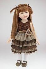 Livraison gratuite 2016 nouveau design de haute qualité américain 18 pouce fille poupée pleine vinyle Collection souriant Bébé Toys avec long cheveux