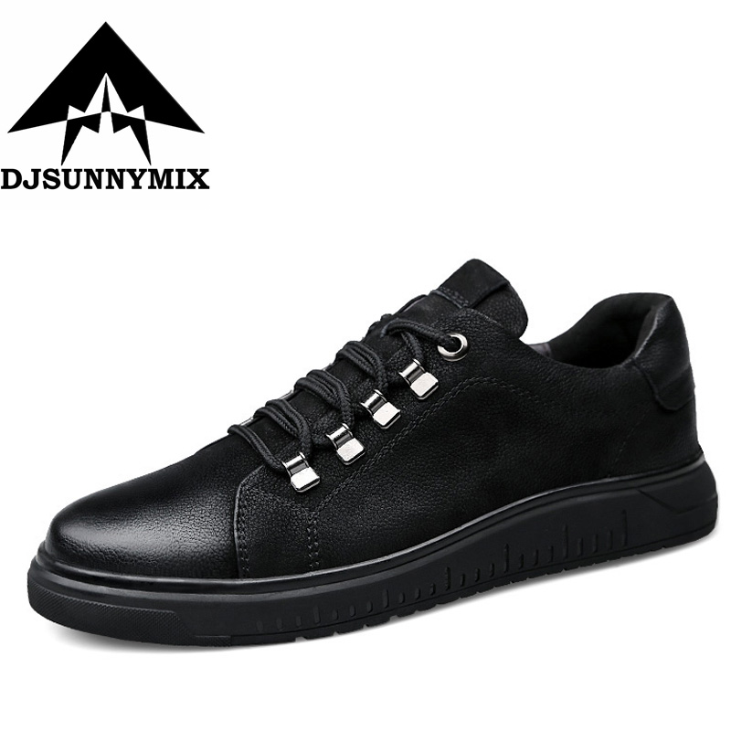 DJSUNNYMIX Big Size 36-47 Luxury Brand Mens Casual Shoes Genuine Leather Moccasins Men Driving Shoes Slip On winter warm branded men s penny loafes casual men s full grain leather emboss crocodile boat shoes slip on breathable moccasin driving shoes