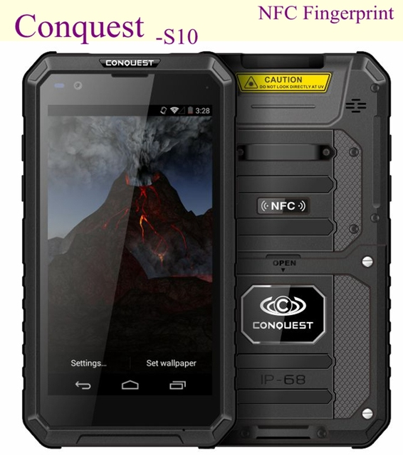 meet d8bc4 e46a1 US $590.0 |Conquest S10 Waterproof Phone IP68 Glonass GPS IP68 Android 5.1  13MP 3GB RAM Dual SIM RFID 5000 Battery Shockproof Phone NFC-in Mobile ...