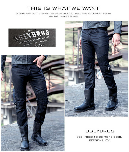 2016 Newest Cool UglyBROS Johnny ubs08 jeans winter a plastic wind motorcycle coasting jeans boy jeans motor pants blu 2016 the newest uglybros motorpool ubs11 leisure motorcycle ms locomotive vintage jeans blue jeans women pants jeans