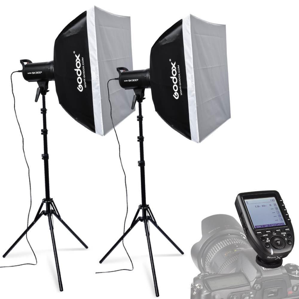 Godox SK300II Studio Flash lampe stroboscopique avec déclencheur xpro-n 60x60 cm Softboxes 185 cm support de lumière pour appareil photo Nikon