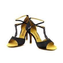 YOVE Dance Shoe Satin Women's Latin/ Salsa Dance Shoe 3.5″ Slim High Heel More Color w134-25
