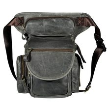 Leather Mens Designer Casual Messenger Shoulder Mochila Bag Fashion Heavy Duty Travel Fanny Belt Waist Pack Drop Leg Bag 3109g(China)
