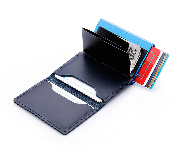 Opened wallet display