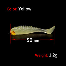 10pcs Flexible Soft Lures Luminous Swimbaits Wobbler soft bait Artificial Bait Silicone Lure Fishing Tackle Fishing Lures