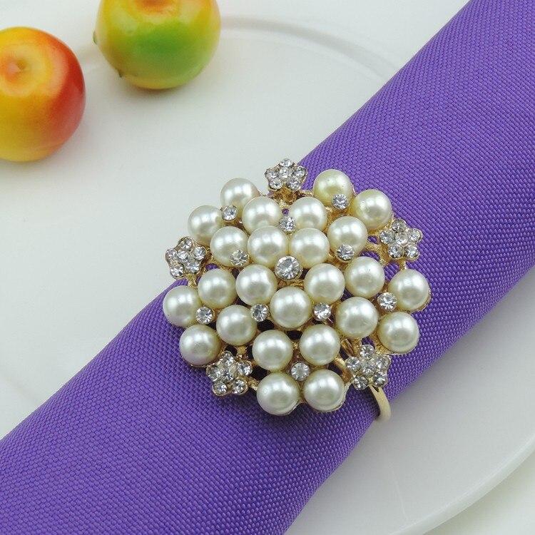 50pcs / lot Pietre stras perla șervețel imitație perla inele - Bucătărie, sală de mese și bar