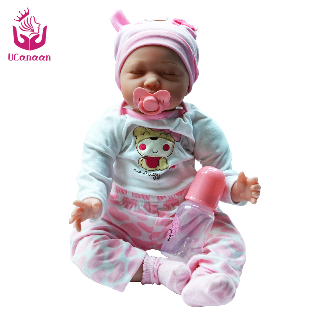 Full-Silicone-Baby-font-b-Doll black friday 22inch Silicone Reborn Baby Dolls Handmade Soft Body New  Reborn Babies Doll Toys Play House Baby Growth Partners Best Gift