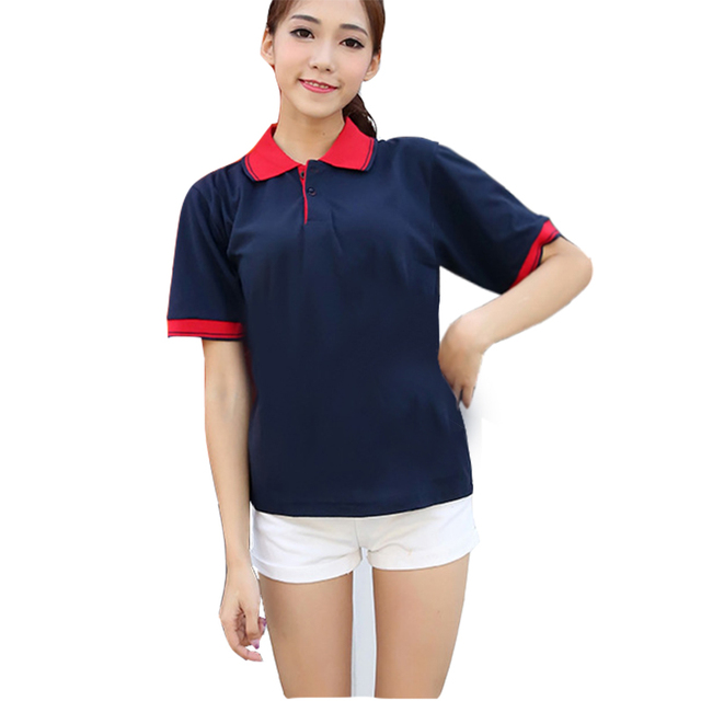 Brand New Women Polo Shirt Casual Breathable Top Summer Ladies Short Sleeve  Polo Shirts Plus Size Cotton Female Patchwork Polos 538cfc0dbd