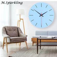 12 Inch America Style Wooden Clock Livingroom Animal Table Clock Line Unicorn Design Silence Wood Wall