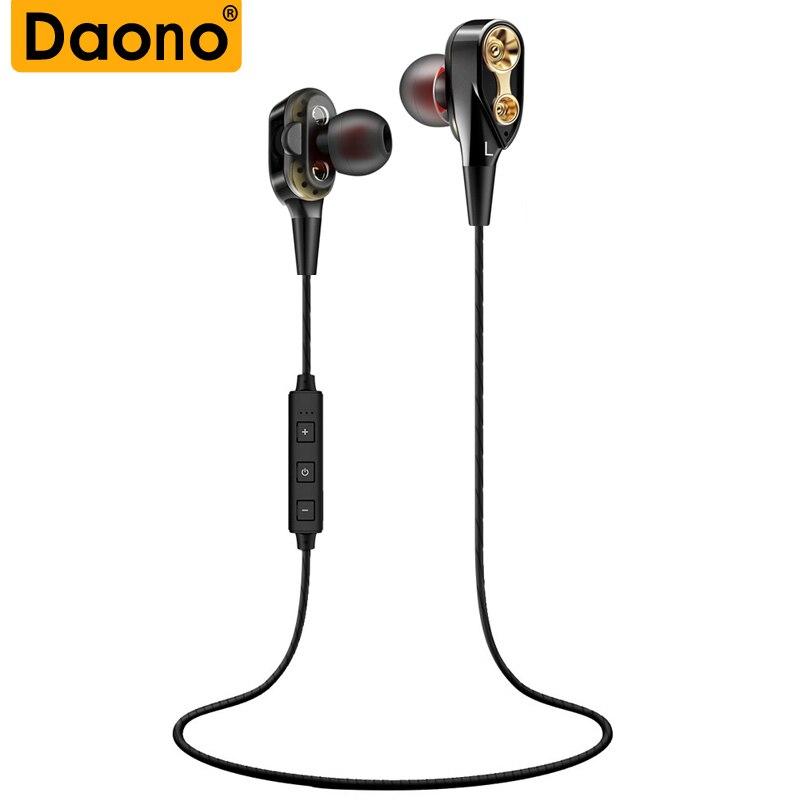 Double Unit Drive Bluetooth Earphone Fone de ouvido