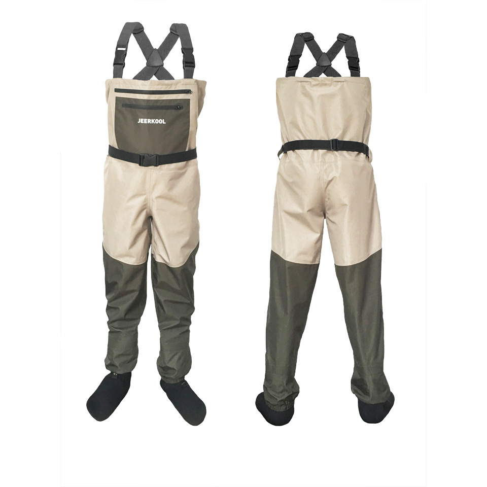 Fishing Wading Pants Portable Chest Overalls Waterproof Clothes with Soft Foot Waders Respirant Boot Hunting Work Clothes P2 thicker waterproof fishing boots pants breathable chest waders wading farming overalls cleaning siamese bust clothes