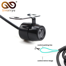 Sinairyu Waterproof Car Vehicle Rearview Front Side View Rear View Camera With Mirror Image Parking Line Convert Line