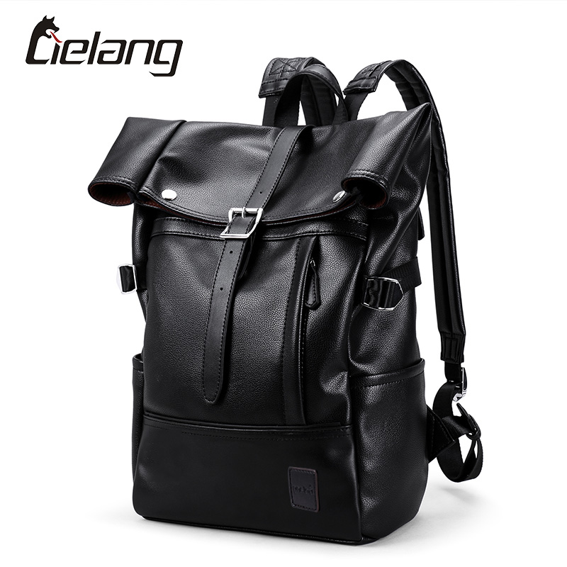 LIELANG Backpack Men Fashion New Student College School Bags Waterproof Leather Backpacks Large Capacity Bag For Male Rucksack 2017 fashion women waterproof oxford backpack famous designers brand shoulder bag leisure backpack for girl and college student