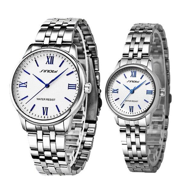 Couples Mesh Strap Quartz Watch Set